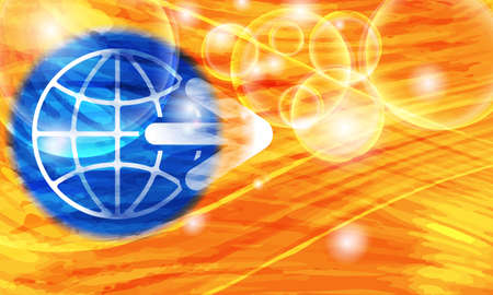transparent globe: Colored vector background with abstract pattern and transparent globe