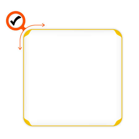 inscribe: Vector yellow box to fill your text and check box Illustration