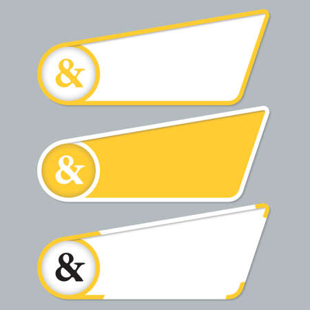 ampersand: Yellow boxes for your text with ampersand Illustration
