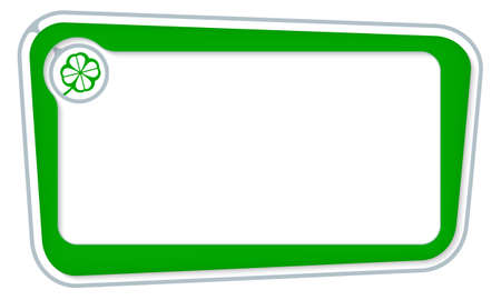 cloverleaf: Vector box for your text with cloverleaf