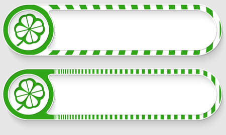 empty frame: Striped buttons for your text and cloverleaf Illustration