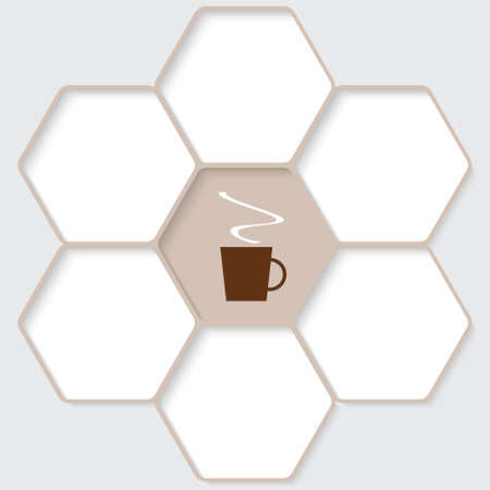 intermission: Set of five hexagons for your text and a cup of coffee