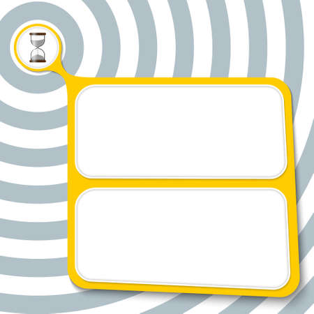 sand glass: Abstract yellow box for your text and sand glass Illustration