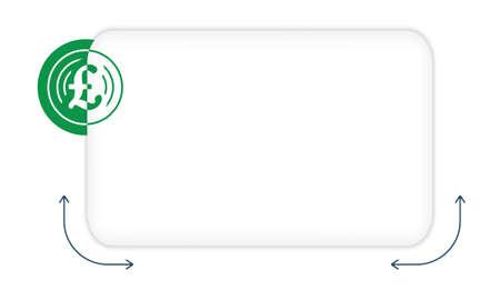 pound sterling: Vector del rectángulo para llenar su símbolo de texto y la libra esterlina Vectores