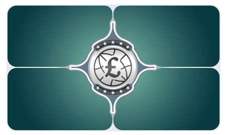 libra esterlina: Marcos del vector para el símbolo de texto y la libra esterlina