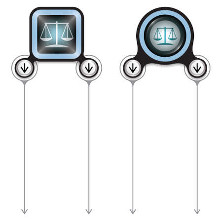 Two abstract frames for your text and justice symbol