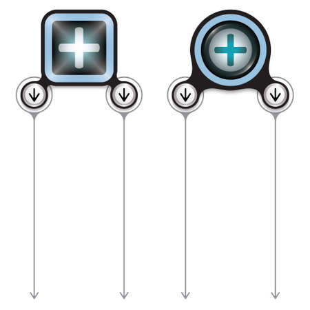 plus symbol: Two abstract frames for your text and plus symbol Illustration