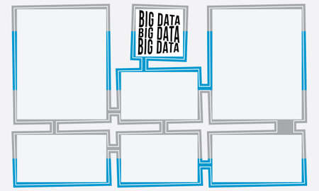 big boxes: Abstract text boxes for your text and big data headline