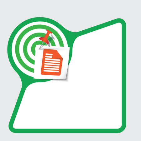 snippet: Abstract frame with paper and document symbol Illustration