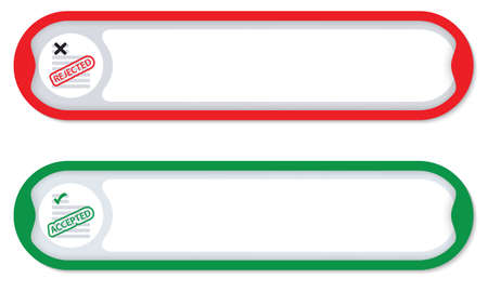 any: Colored frames for any text with questionnaire icon Illustration