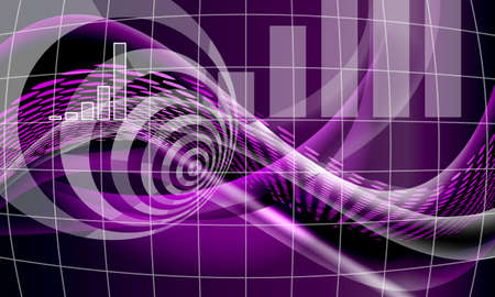 purple abstract background: Purple vector abstract background with lines and waves and diagram Illustration