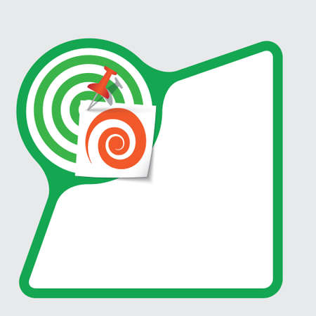 snippet: Abstract frame with paper and spiral