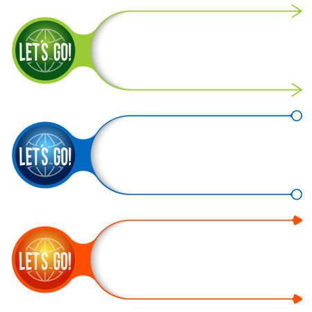 lets: Three vector frames for your text and let�s go icon