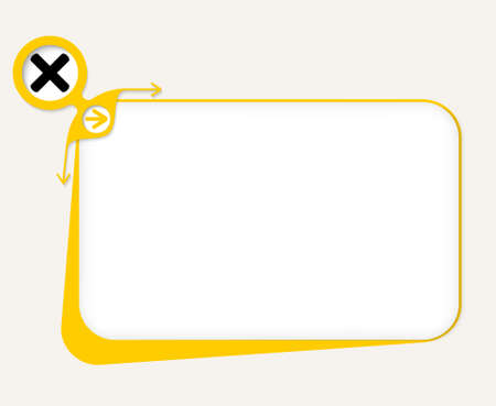 multiplicaci�n: Vector yellow box to fill your text and multiplication symbol