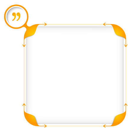 fill: Text box to fill your text and quotation mark Illustration