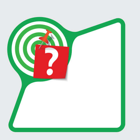 snippet: Abstract frame with paper and question mark Illustration