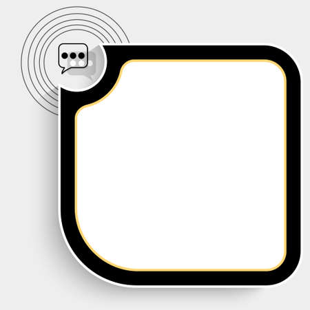 fill fill in: Black text box for your text and speech bubble