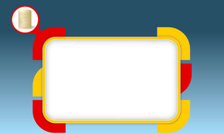 fill fill in: Vector box to fill your text and coin