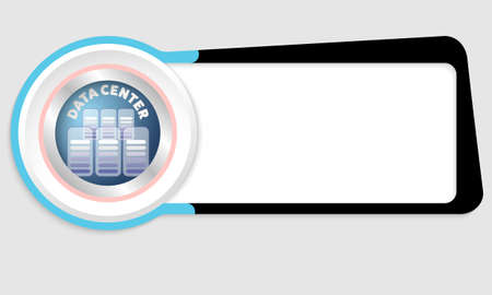 storage data product: Vector abstract box for your text and data center icon