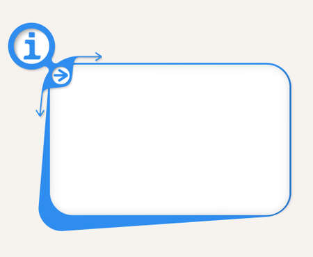 inform information: blue box to fill your text and info symbol Illustration