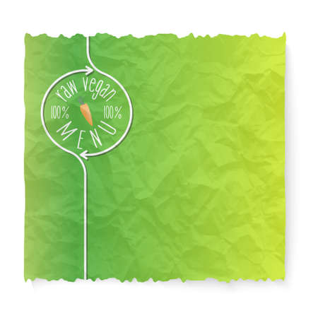 raw: Crumpled paper and raw menu icon Illustration