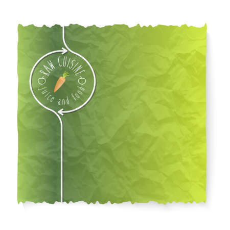 crumpled: Crumpled paper and raw cuisine icon