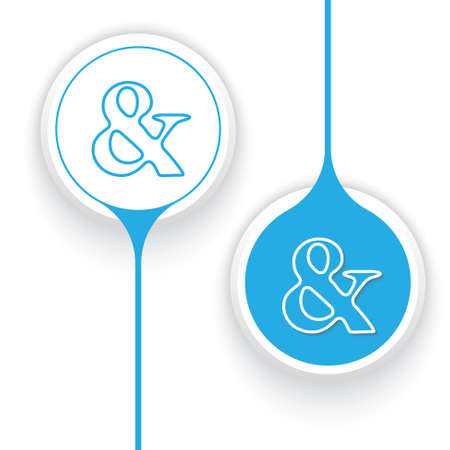 two objects: Two vector objects and ampersand