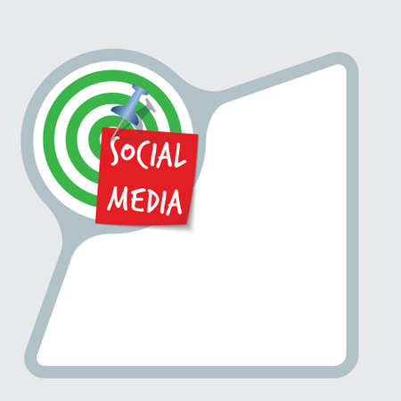snippet: Abstract frame with paper and inscription social media