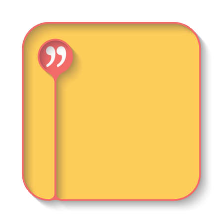 quotation: Text box for fill your text and quotation mark