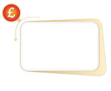 sterlina: scatola di vettore per riempire il testo e sterlina