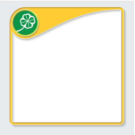 cloverleaf: Yellow box for your text and cloverleaf