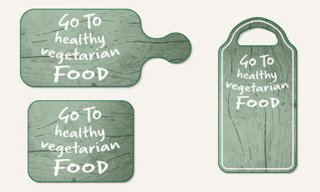 breadboard: Wooden breadboard with the words go to vegetarian food