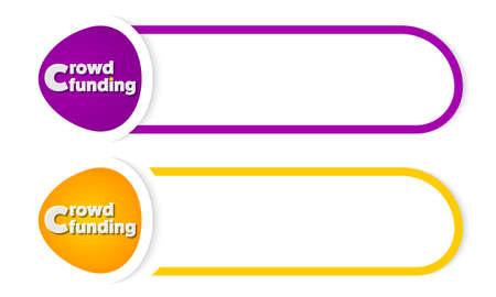 fondos violeta: abstarct botón para el texto y las palabras se agolpan financiación