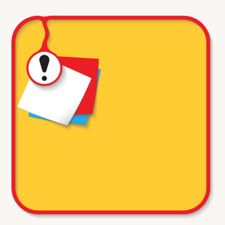 slips: Text box for fill your text with exclamation mark and slips of paper Illustration