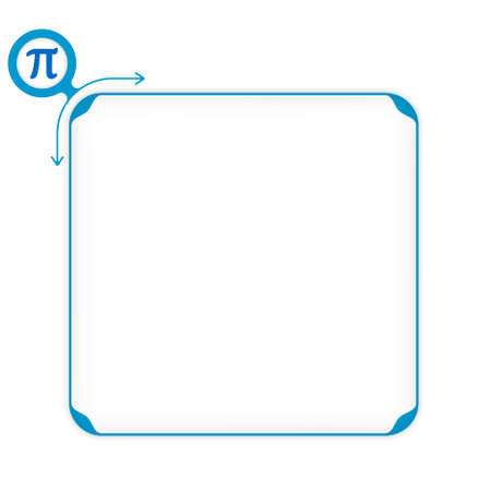 fill: Vector blue box to fill your text and pi symbol