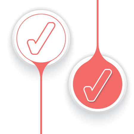 two objects: Two vector objects and check box Illustration