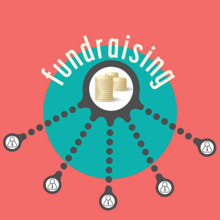 fund: Vector circular object with theme of fund raising