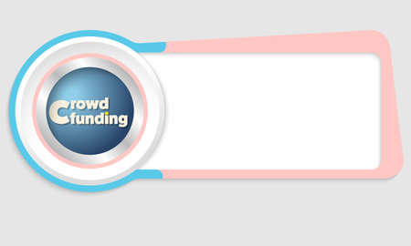 crowd sourcing: Vector abstract box for your text and the words crowd funding
