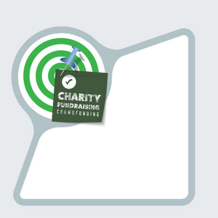 snippet: Abstract frame with paper and the words charity
