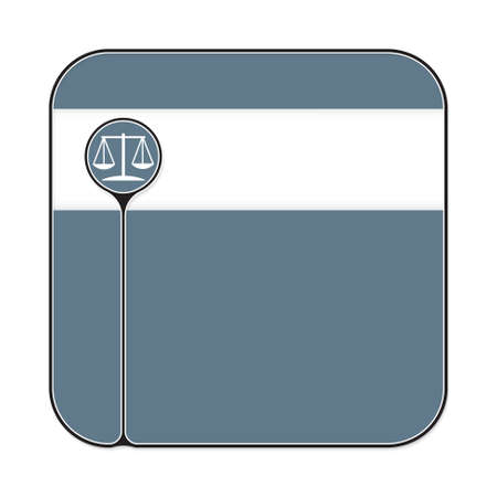 jury box: Text box for fill your text and justice symbol Illustration