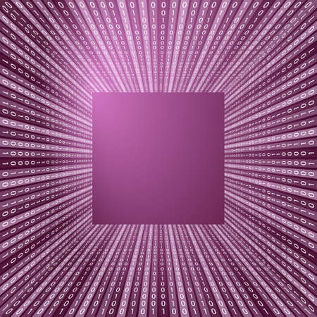 Purple vector abstract background and binary code