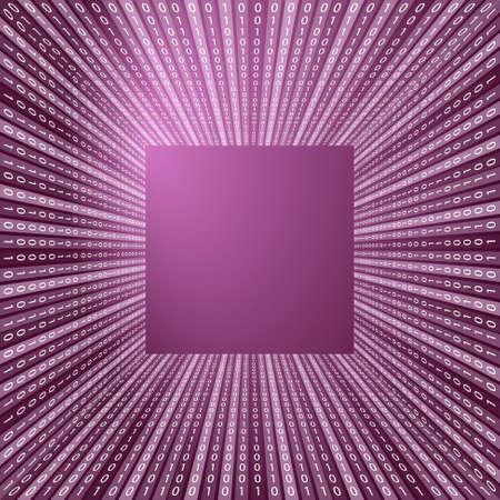 Viola vettore sfondo astratto e codice binario