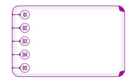 Vector Simple Caja Para Llenar Su Texto Y Números Ilustraciones ...