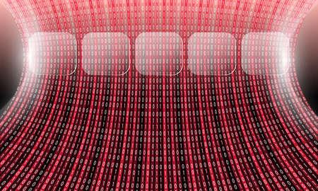 complexity: Futuristic vector backdrop and binary code