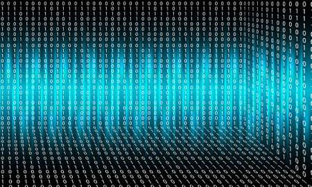 Vector sfondo astratto con luci; linee e codice binario