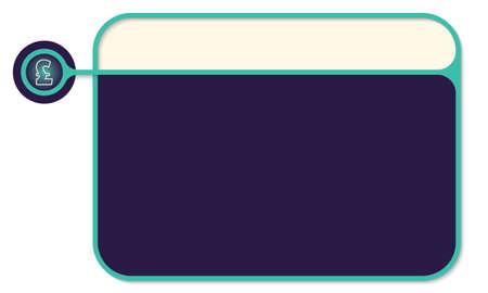 libra esterlina: cuadro de texto de vector para el símbolo de texto y la libra esterlina