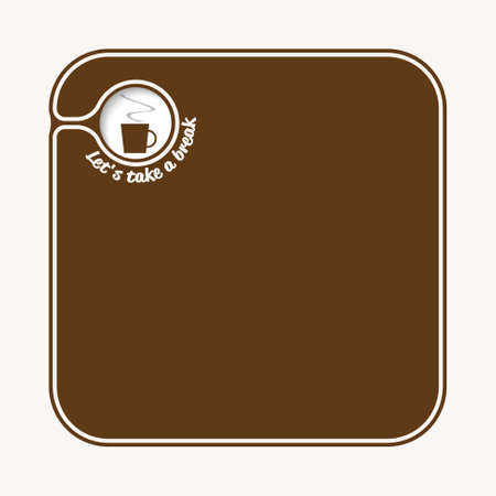 brown box: Brown box for fill your text with cup of coffee