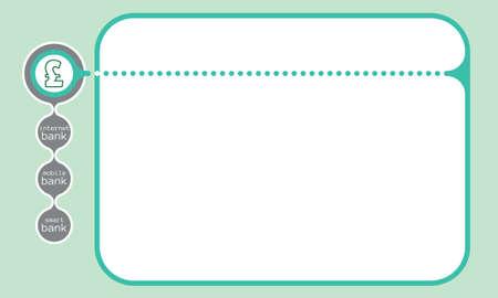 libra esterlina: cuadro de texto de vector para el s�mbolo de texto y la libra esterlina