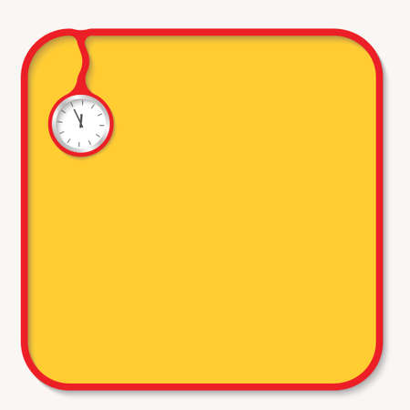 corner clock: Text box for fill your text and watches