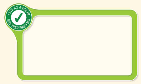 check box: Vector frame for your text and green check box